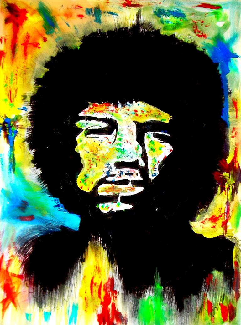 Psychedelic jimi hendrix portrait by artemisophile on - Jimi hendrix wallpaper psychedelic ...
