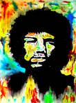 Psychedelic Jimi Hendrix Portrait