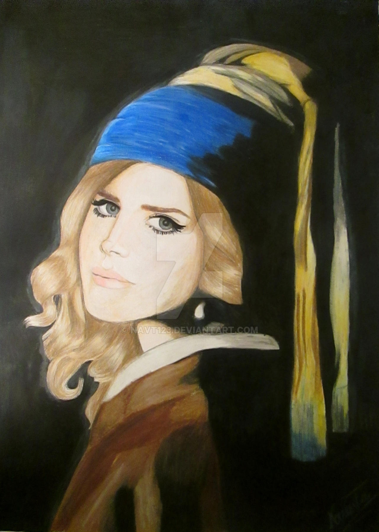 Lana Del Rey With A Pearl Earring By Navt123 On Deviantart