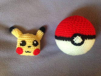 Pikachu and pokeball