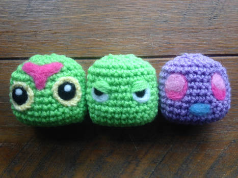 Pokemon- Caterpie, Metapod, Butterfree