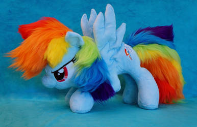 Rainbow Dash Starting plush by FatalPlush