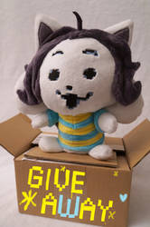 Temmie plush - GIVEAWAY by FatalPlush