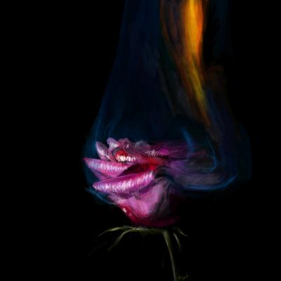 burning ROSE by Missrlola