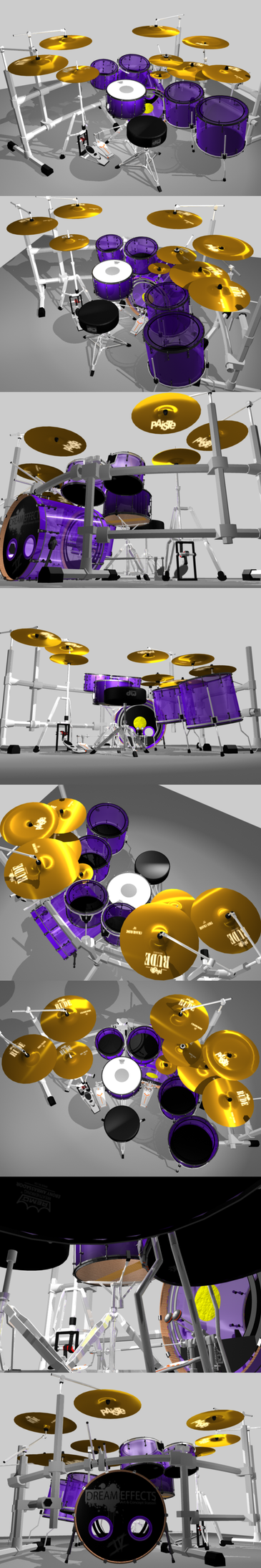 Yet another 3D drumkit by Jackasshedgehog