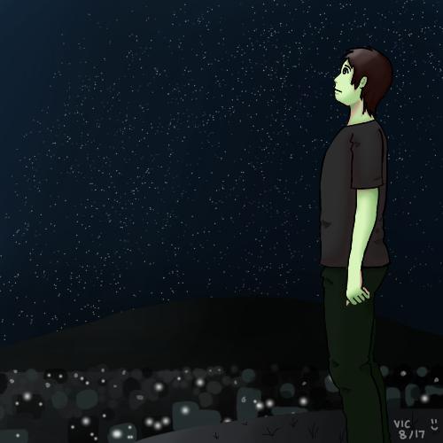 wandering alone at night - 500×500