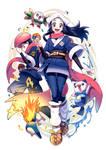 Pokemon Legends Arceus Akari and Rei