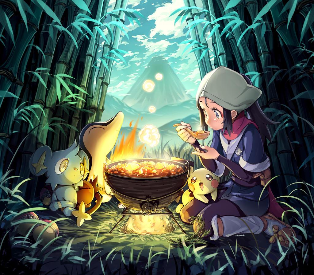 pokemon_legends_arceus_akari_lunch_by_gi