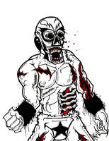 Luchadore Zombie Challenger by MarkG72
