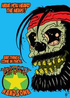 Brutally Handsome - Handsome Donny Redd Skull by MarkG72