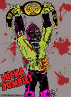 Lucha Zombie Champion color print by MarkG72