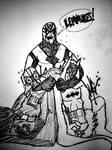 Desk Doodle: Goldust vs Lord Vader vs Batman
