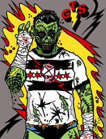 CM Punk - Straight Edge Zombie by MarkG72
