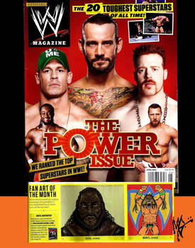 My art in WWE Magazine