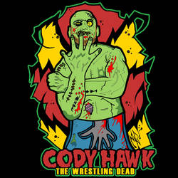 Cody Hawk 'Wrestling Dead Zombie' t-shirt design