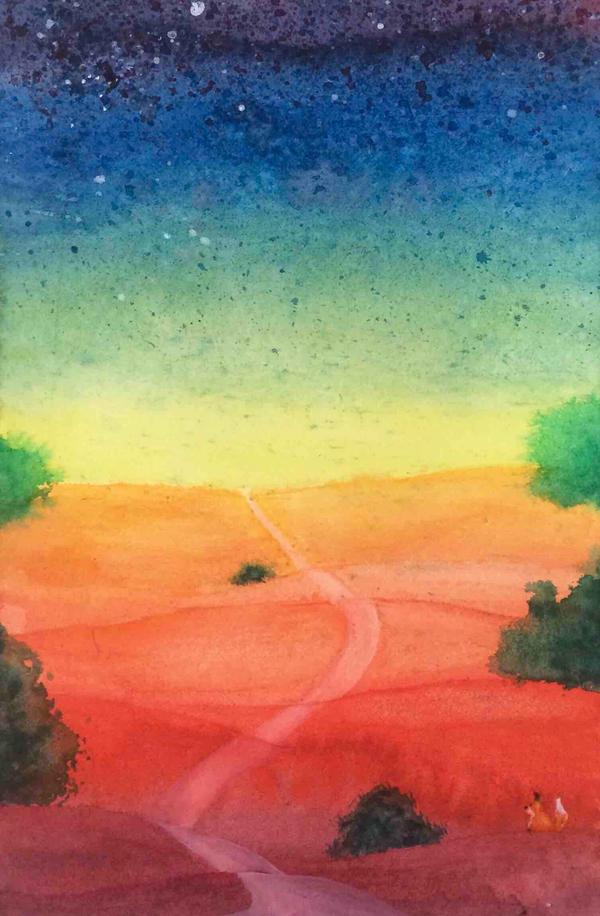 Paysage arc-en-ciel by illustratrice-lalex