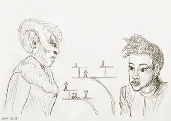 Star Trek Discovery - L'Rell and Michael Burnham by illustratrice-lalex