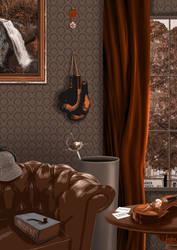 Sherlock Holmes // Challenge Artefact 07-19 by illustratrice-lalex