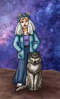Femme-chat et loup // commission