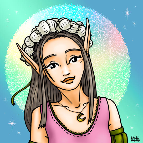 Lily of the valley fairy for Beltane