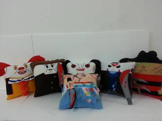 Handmade Horror Movie Pillow Set by RbitencourtUSA