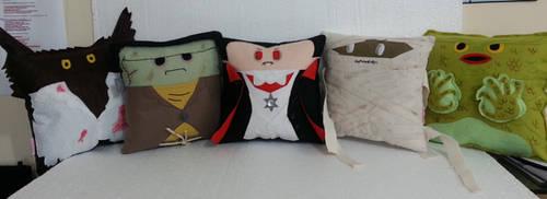 Handmade Classic Horror Movie Monsters Pillow Set by RbitencourtUSA