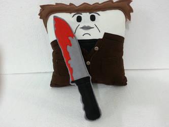 Michael Myers Halloween Movie Plush Pilllow by RbitencourtUSA