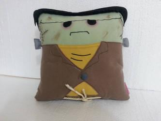 Classic Horror Movie Monster Frankenstein Pillow by RbitencourtUSA