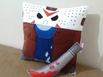 Handmade Jason Friday the 13th Movie Plush Pillow by RbitencourtUSA