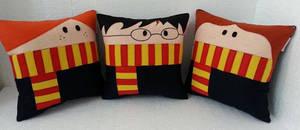 Handmade Harry Potter Trio Plush Pillow Set by RbitencourtUSA