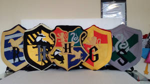 Handmade Harry Potter Hogwarts Houses Backpack Set