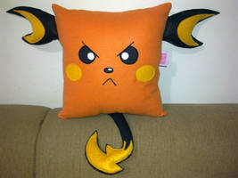 Handmade Anime Pokemon Raichu Fan Art Plush Pillow by RbitencourtUSA