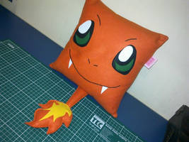 Handmade Anime Pokemon Charmander Plush Pillow by RbitencourtUSA