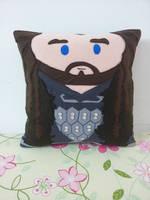 Handmade The Hobbit Thorin Oakenshield Pillow by RbitencourtUSA