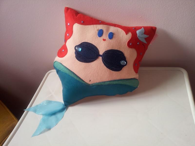 Handmade the little mermaid ariel pillow by rbitencourtusa