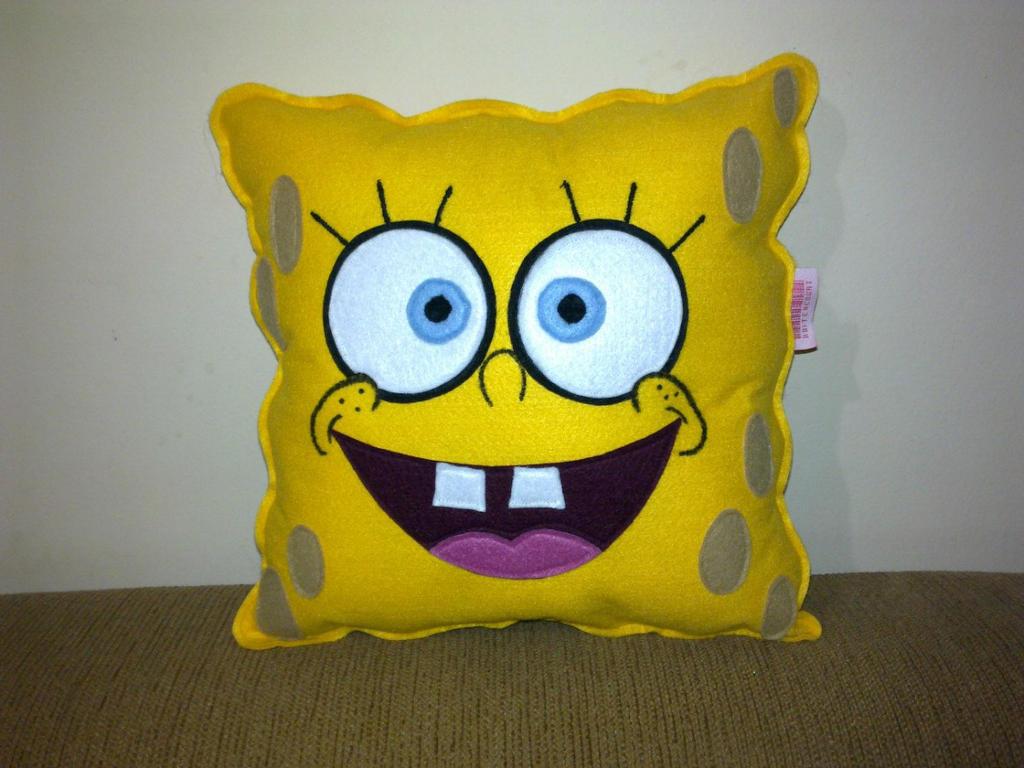 handmade cartoon spongebob squarepants pillow by rbitencourtusa on