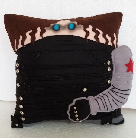 Winter Soldier Bucky Burnes Inspired Pillow Plash