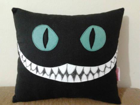 Handmade Tim Burton Cheshire Cat Plush Pillow