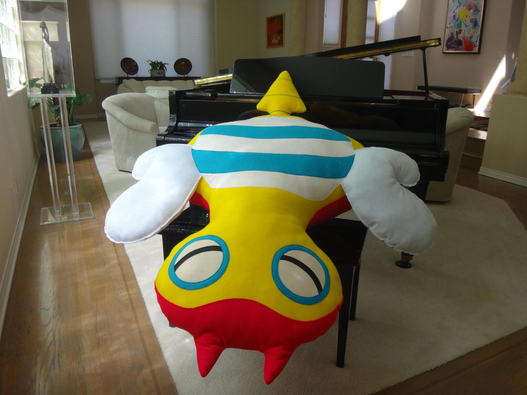 Handmade 6' Pokemon Dunsparce Fan Art Plush Pillow by RbitencourtUSA