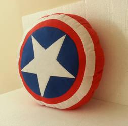 Handmade Usable Captain America Shield Pillow
