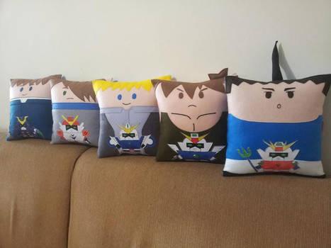 Handmade Mobile Suit Gundam Wing Pillow Set