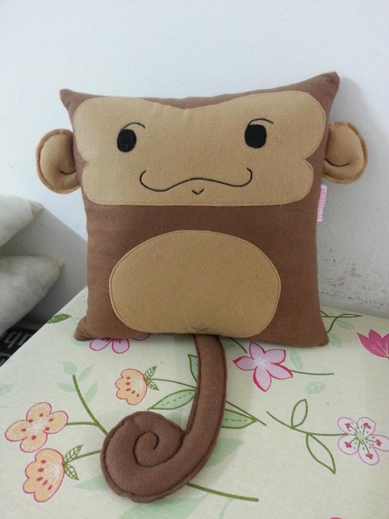Cute Pillow Crafts : Handmade Cute Monkey Baby Infant Ape Pillow by RbitencourtUSA on DeviantArt