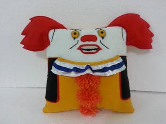 Handmade Pennywise IT Stephen King Movie Pillow by RbitencourtUSA