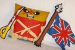 Handmade Iron Maiden Eddie Trooper v1.43 Pillow by RbitencourtUSA