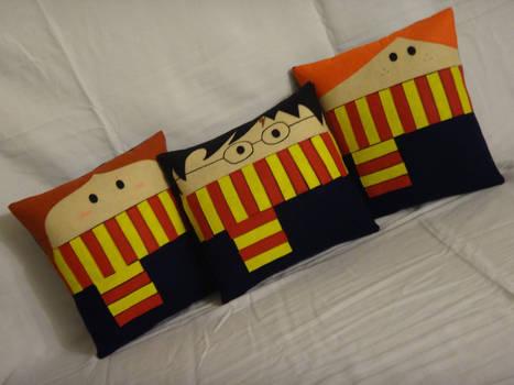Handmade Harry Potter Trio v1.43 Pillow Set