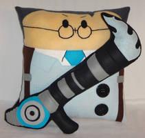 Handmade Team Fortress 2 BLU Medic v1.43 Pillow