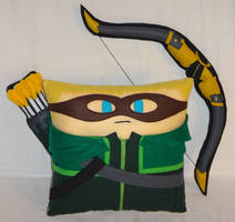 Handmade Green Arrow with Bow and Quiver v1.43