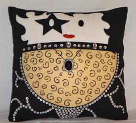 Handmade KISS Band Paul Stanley v1.43 Pillow by RbitencourtUSA