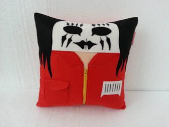 Handmade Slipknot Band Joey Jordison mod. 2 Pillow by RbitencourtUSA