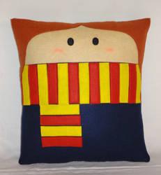 Handmade Gryffindor Hermione Granger v1.43 Pillow by RbitencourtUSA